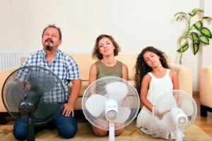 family-before-electric-fans